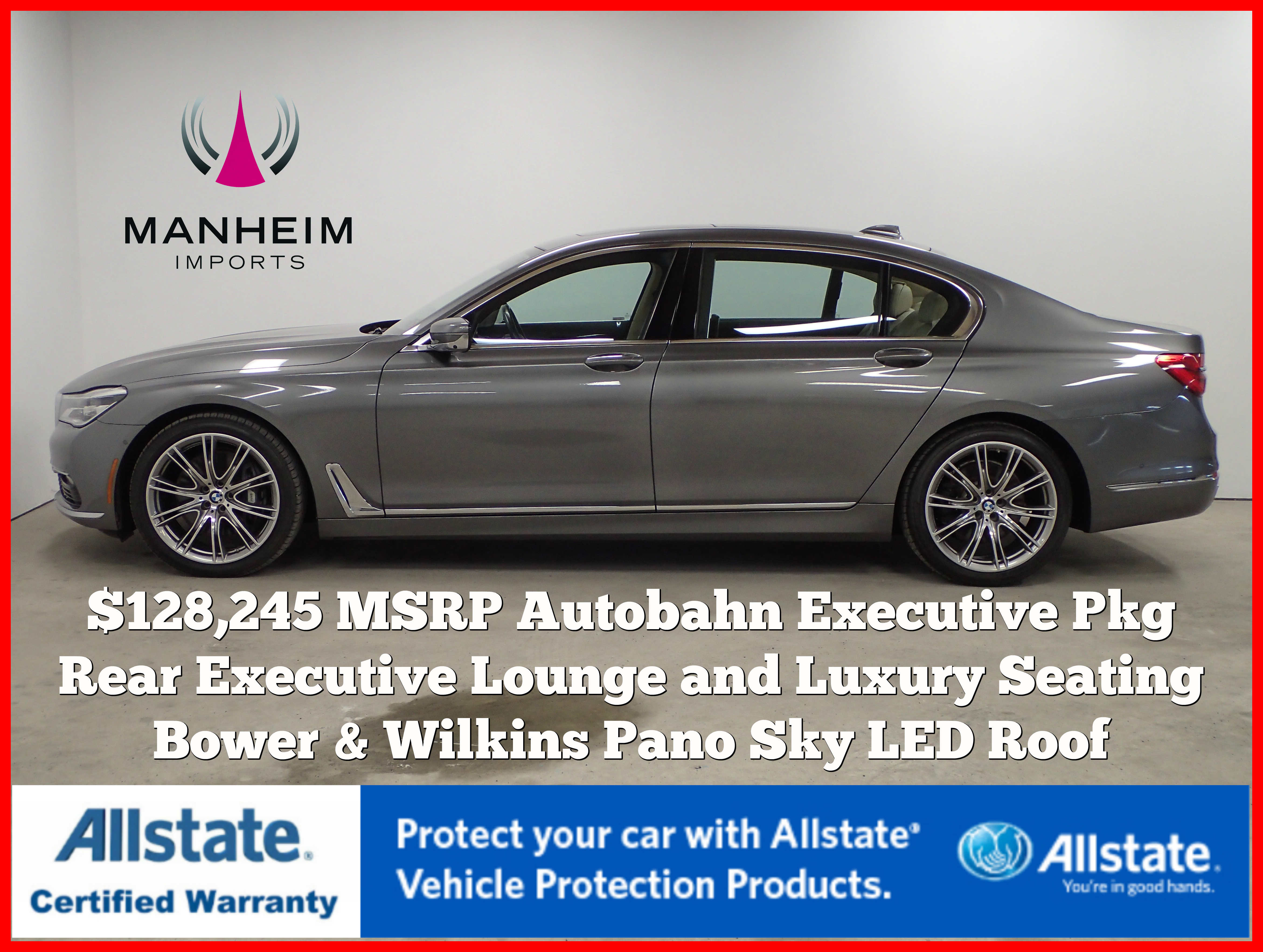 Pre Owned 2016 Bmw 750i Xdrive Autobahn 128 245 Msrp